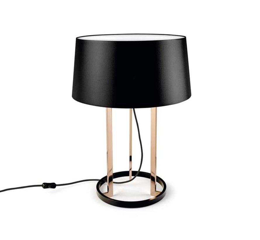 Premium tafellamp 3 x E-27 hoog 594mm, Ø440mm in goud of koper