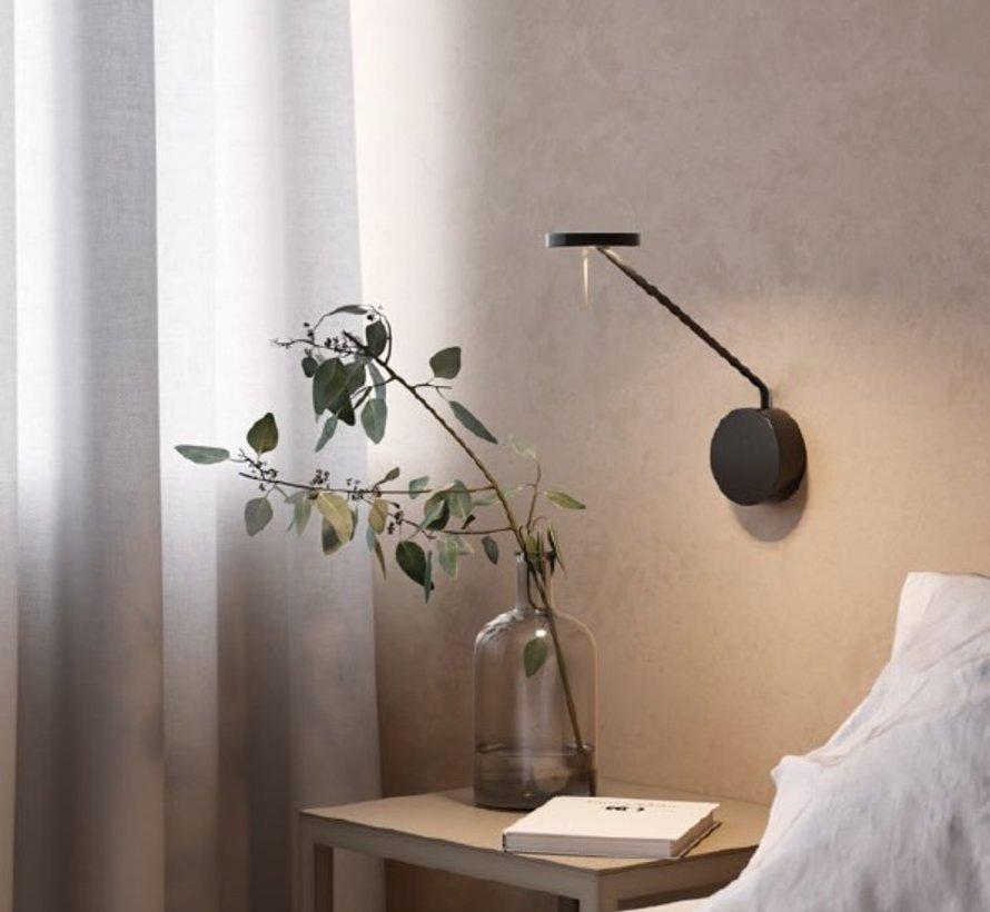 Invisible medium wall lamp 9Watt black in 2700 of 3000K