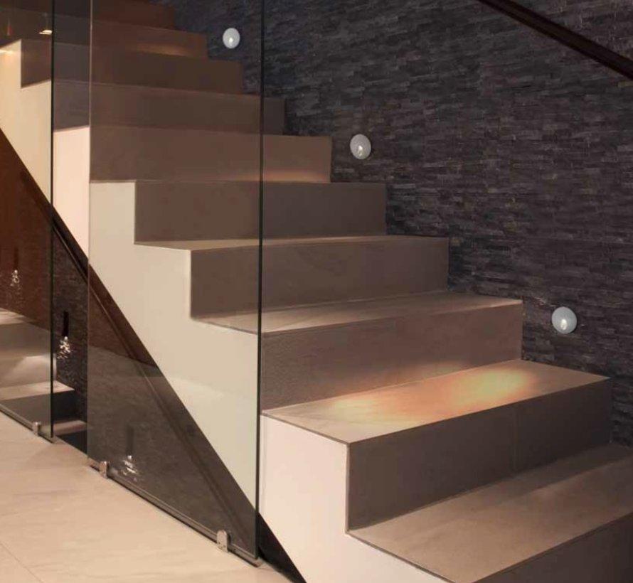 Secret oval trimless wall recessed 350mA/1Watt-3000K