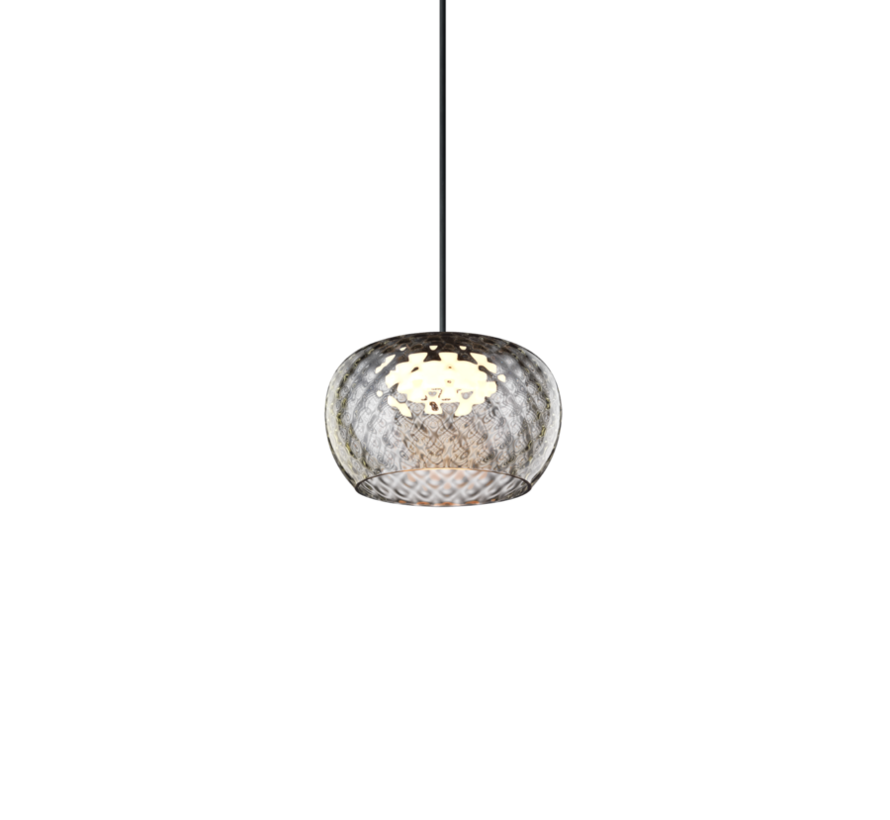 Wetro hand-blown glass Ø150mm LED hanging lamp in 5 colors dimmable