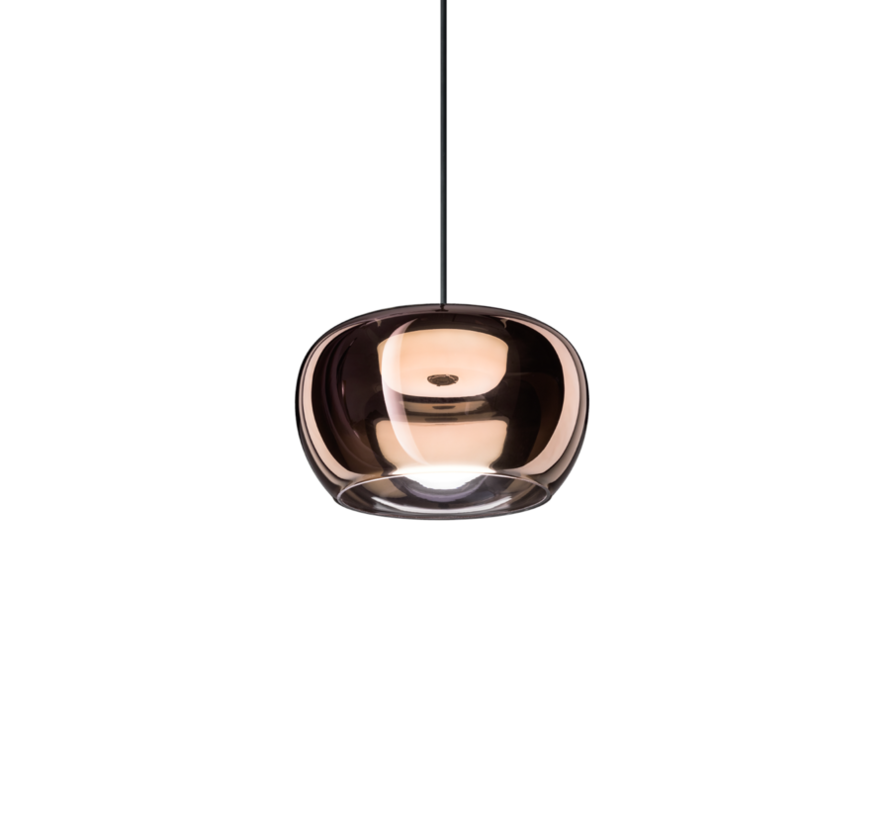 Wetro 2.0 hand-blown glass Ø225mm LED hanging lamp in 5 colors dimmable