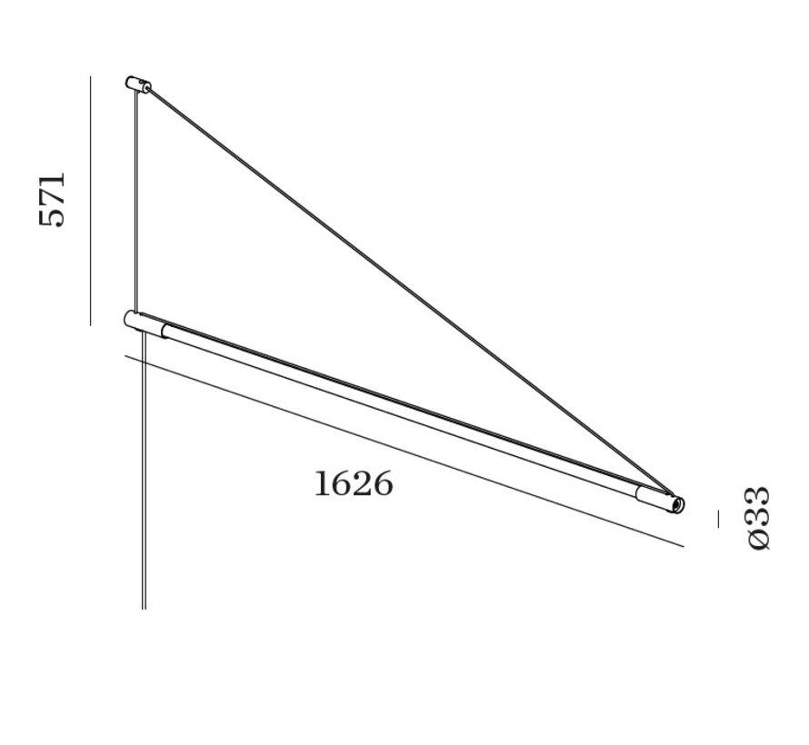 Darf 1.0 led wandarmatuur 1626mm 25Watt dimbaar