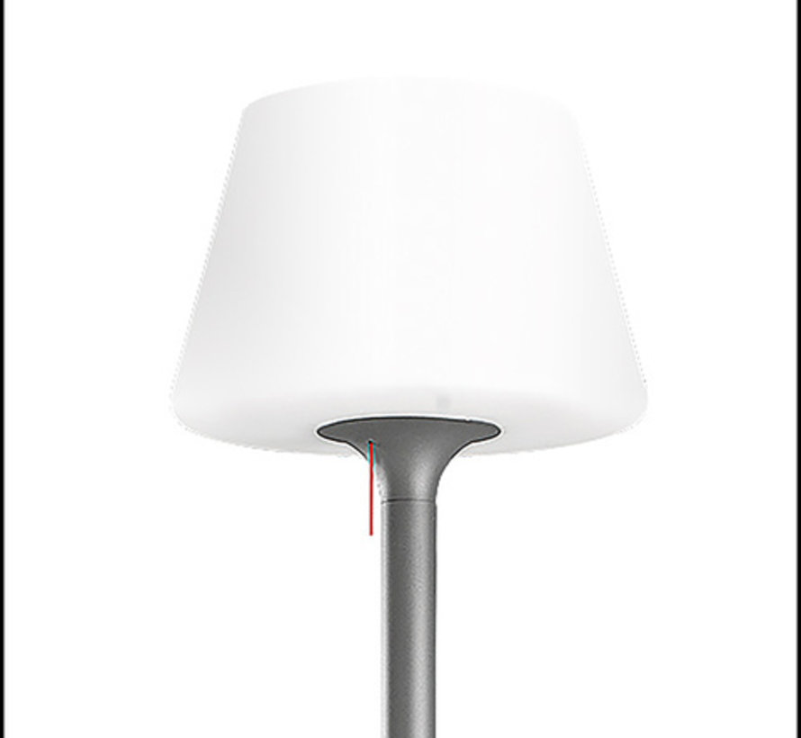 Moonlight standing outdoor lamp 180cm antracite E-27