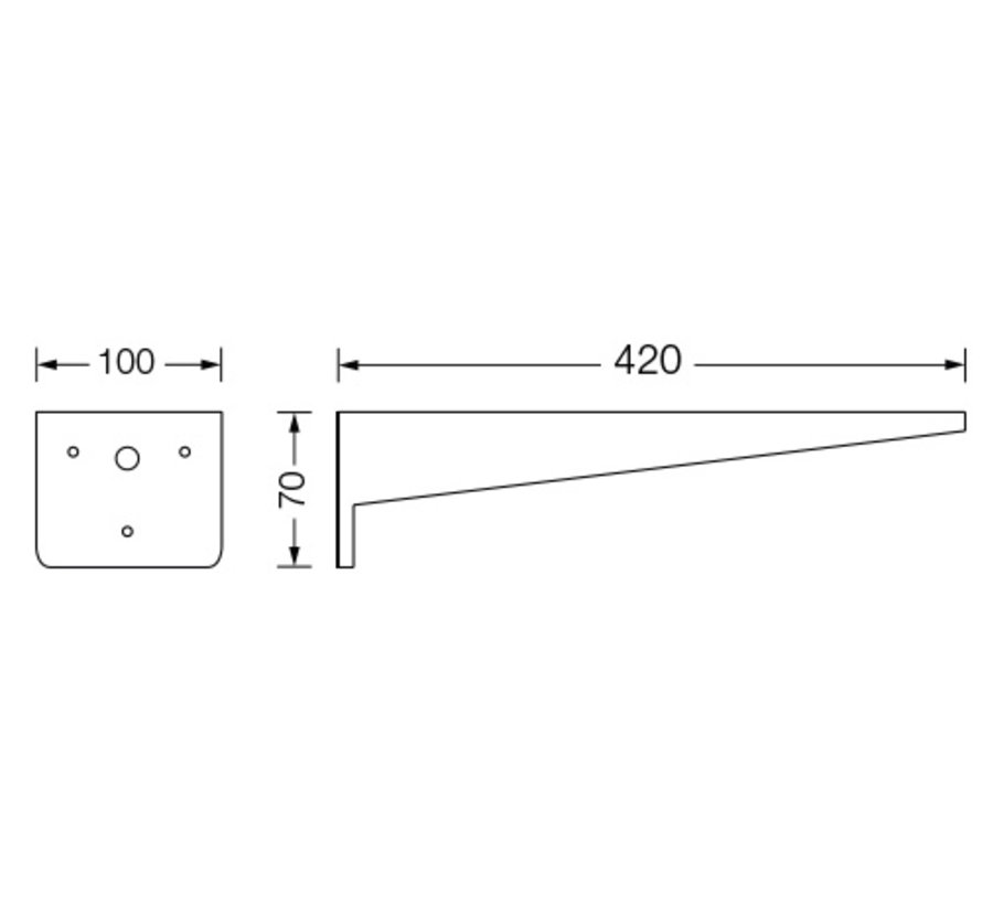 Excellence E-SB haakse wandbeugel voor EAL-250M