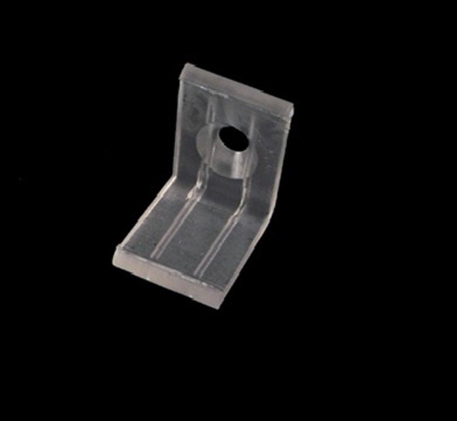 Corner profile mount clip