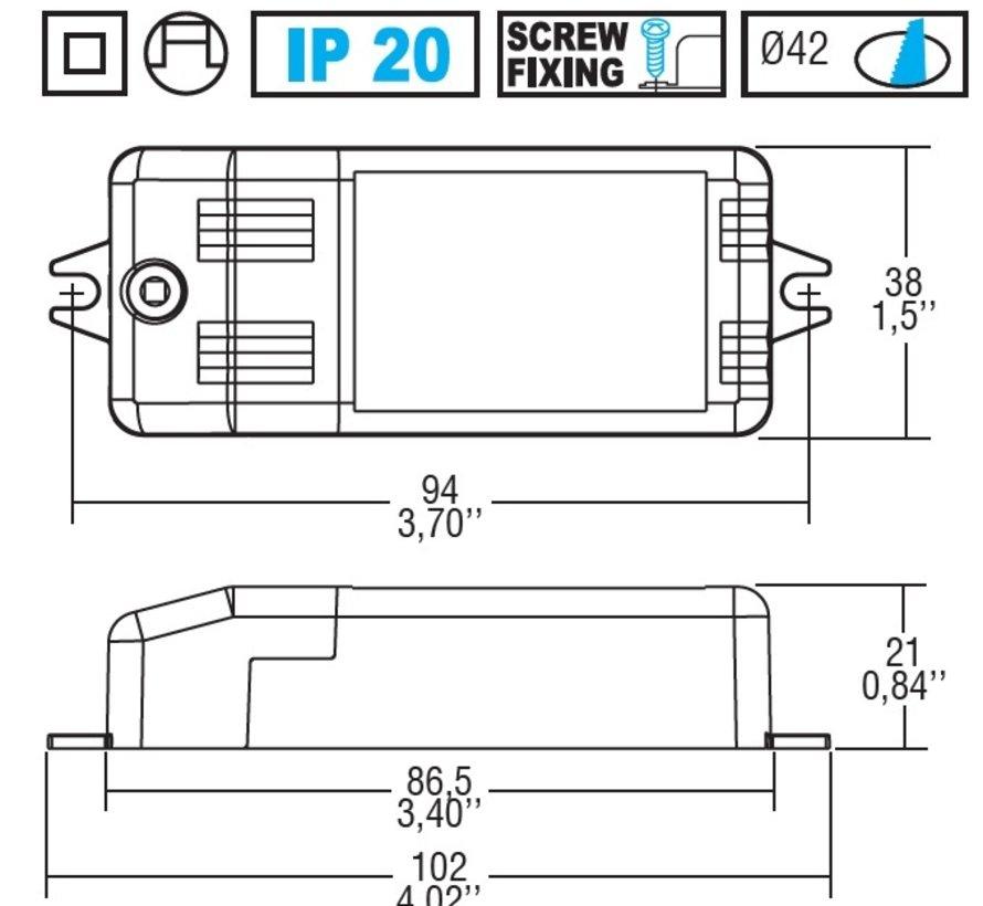 Micro MD700 dimbare  driver 700mA 4-10Watt fase- aan en afsnijding
