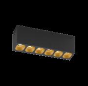 Wever-Ducre Pirro 6.0 surface LED 6x4Watt dimbaar