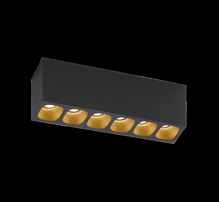 Pirro 6.0 ceiling surface LED 6x4Watt dimbaar
