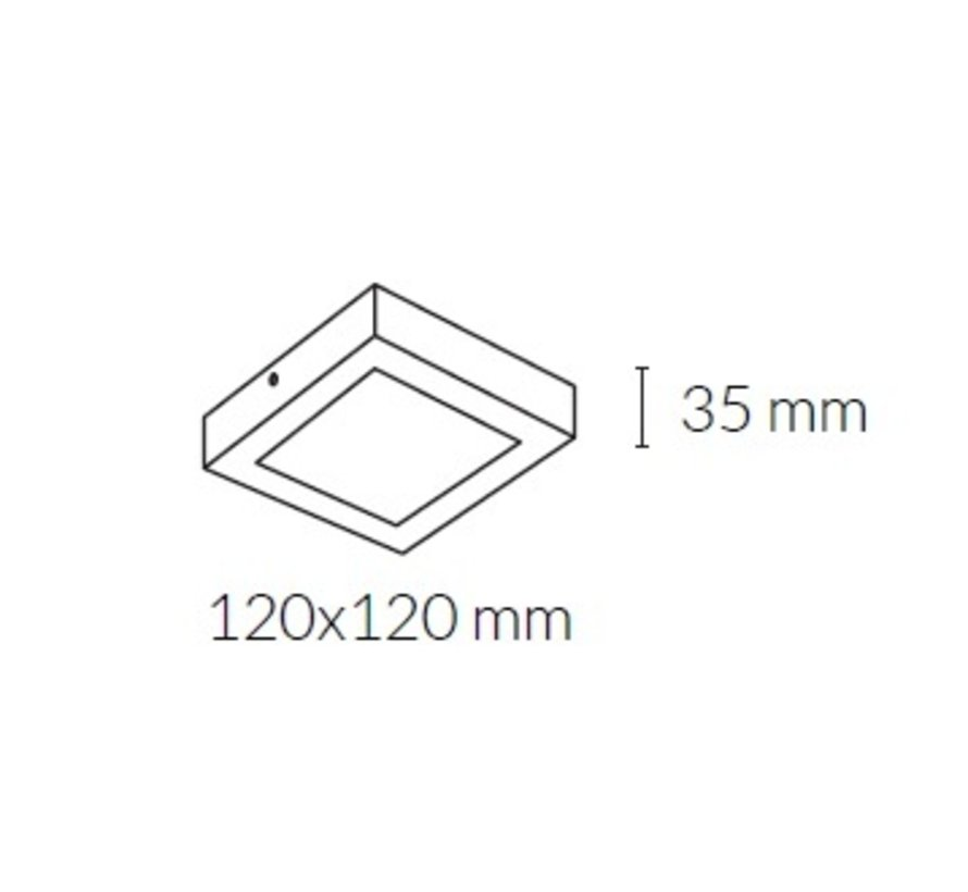 Disc Square Surface Led plafond opbouw in 8 - 24Watt