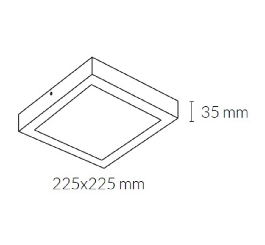 Disc Square ceiling surface led in 8-24Watt