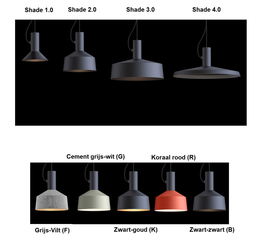 Roomor suspended 1.0 hanging lamp excl shade (assemble yourself)