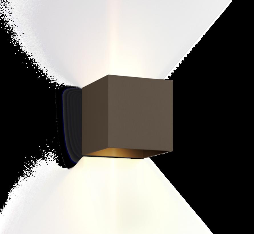 Box 1.0 led 6W wandlamp up OF down instelbare lichtbundel dimbaar