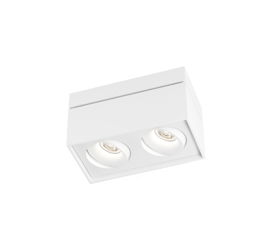 Sirro 2.0 LED orientable surface-mounted spot 2x10Watt dimmable in 3 colours