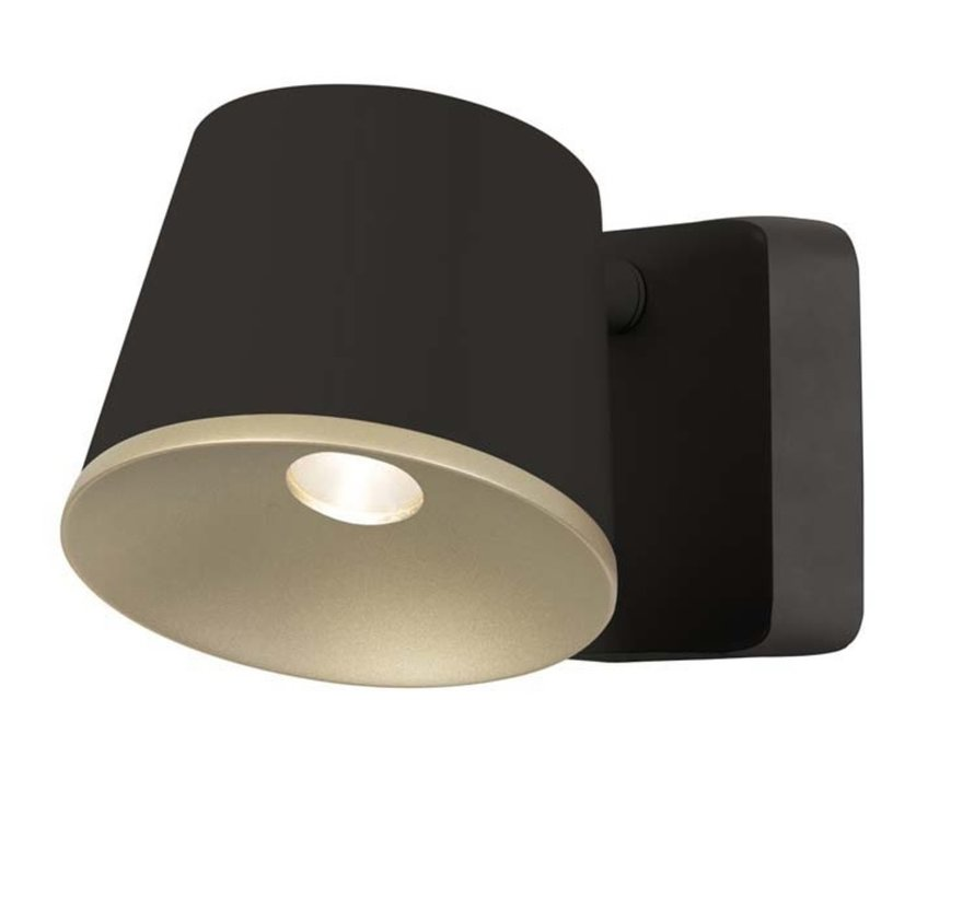 Drone Single Wall fixture 7W-2700K brown-gold