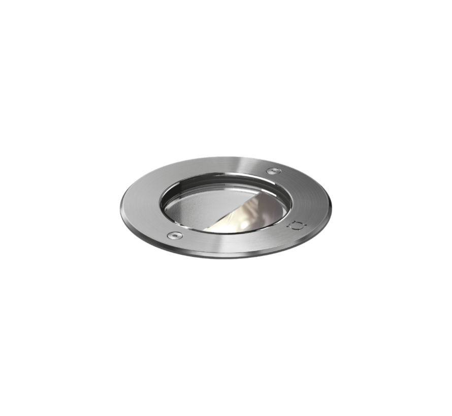 MAP ASYM 1.2 outdoor recessed spotlight stainless steel, 10W-3000K dimmable