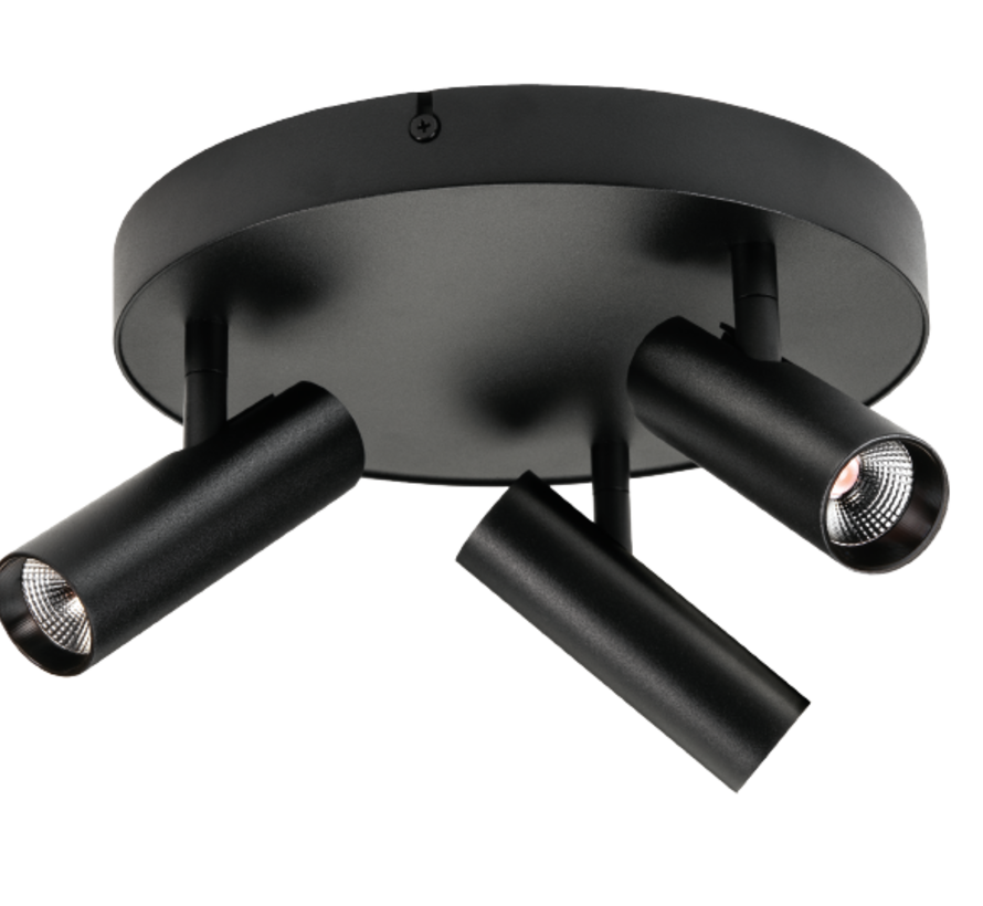 Tube Micro Trio LED ceiling spot 3 x 6 Watt Dim to Warm Ø250mm