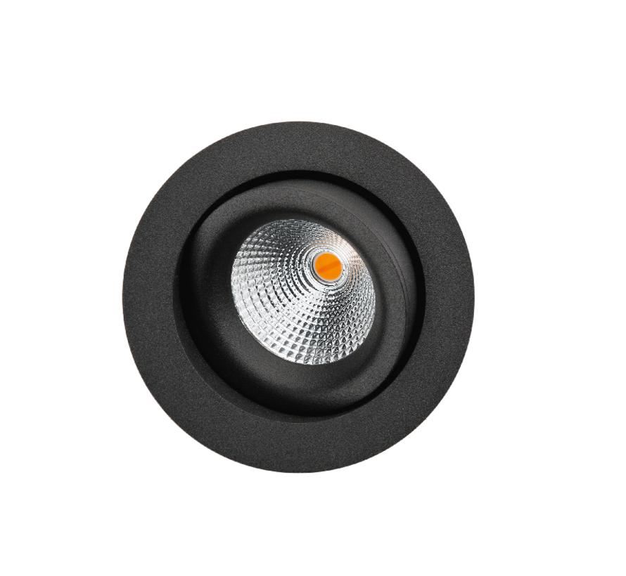 Junistar Soft Dim To Warm richtbare ledspot 7Watt -2000/2800K in wit of zwart