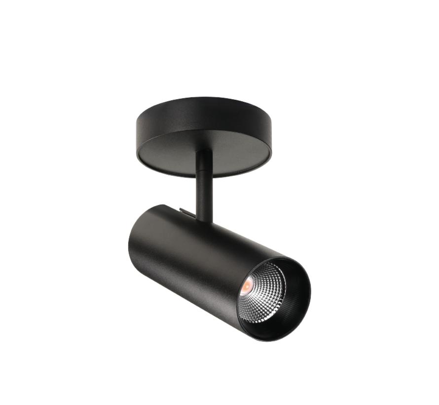 Tube Mini S opbouw spot 17W-2700K dimbaar in wit of zwart