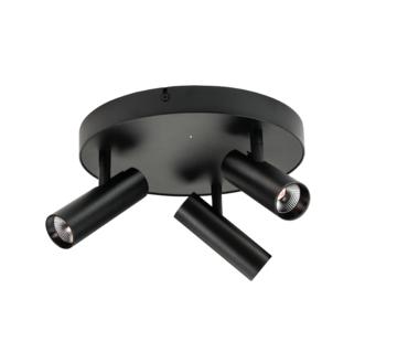 SG Lighting Tube Micro Trio LED ceiling spot 3 x 6 Watt Dim to Warm