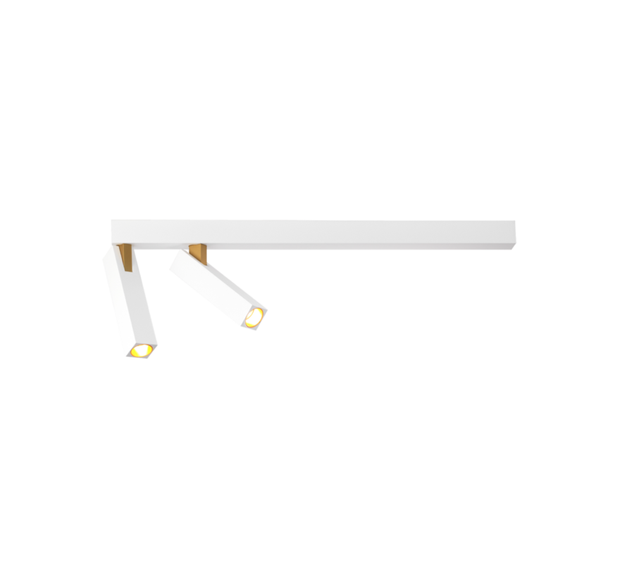 Mick 2.0 ceiling surface 2x7Watt dimmable in 2 colours