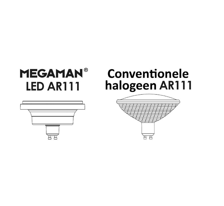 MM09729 AR111-G10 230V-11W-24/45gr dimmable 2800K