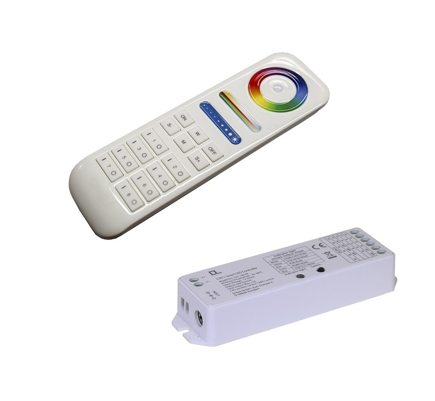 Colour Zone II 5 channel ledstrip controller 12-24Volt met RC