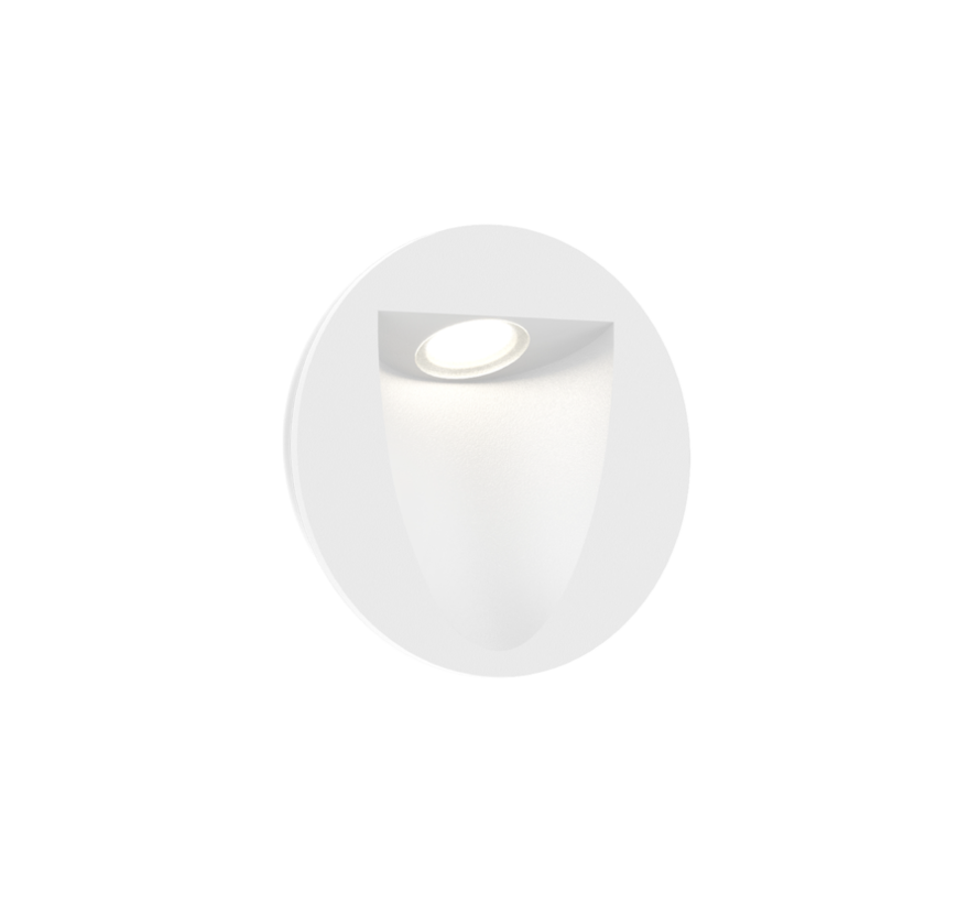 Smile In 1.0 led wand inbouw rond 4/6W-3000K