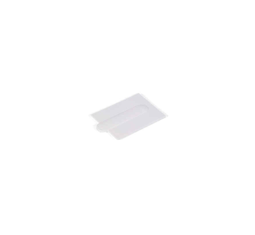 Coverplate end feed in white or black