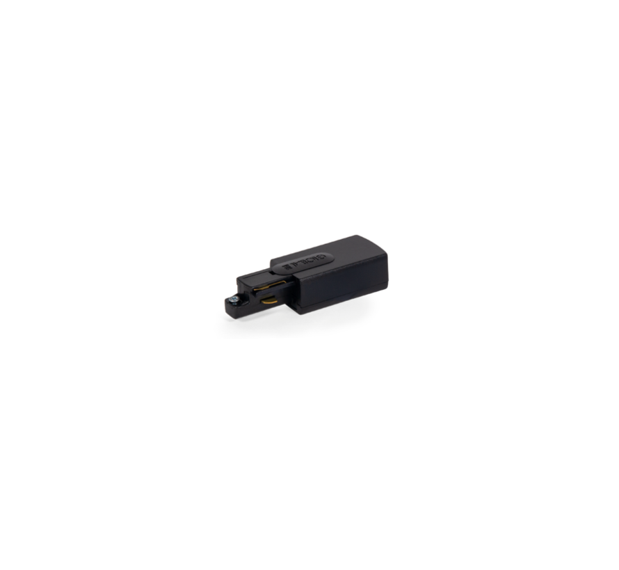 Track 1-phase End feed (connector) right 230Volt - earth left