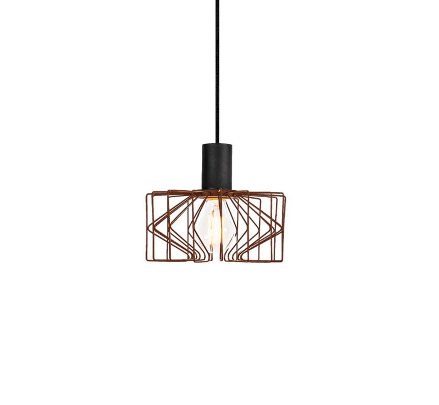 Wiro 2.0 hanglamp Ø210mm led E-27 in zwart of roest