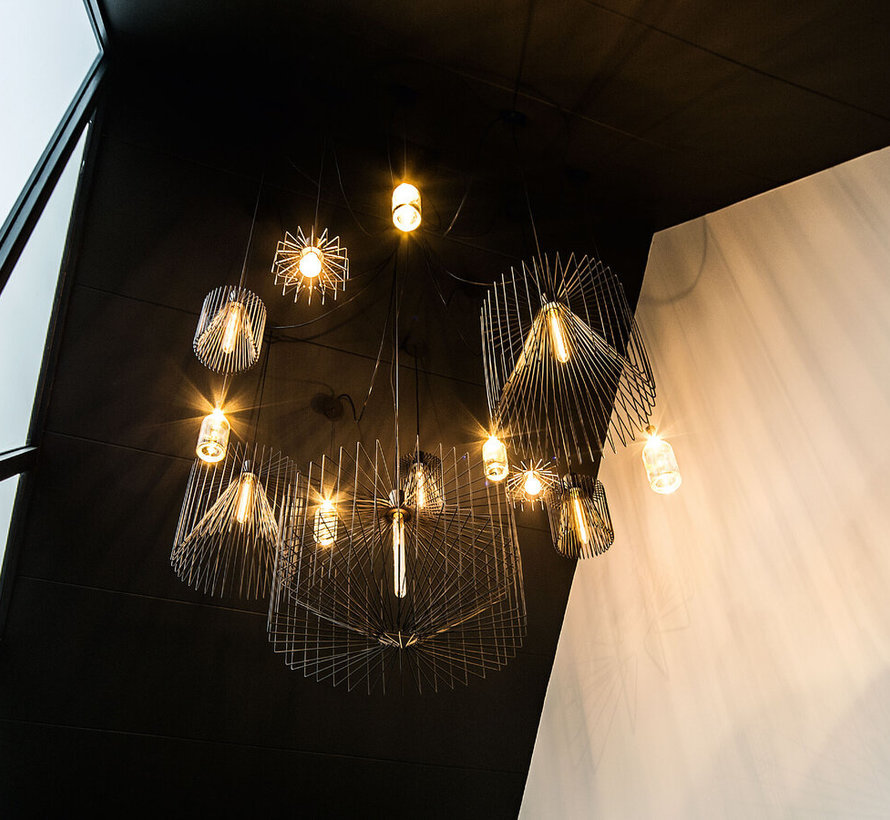 Wiro 2.0 ceiling suspended Ø210mm led E-27 in black or rust