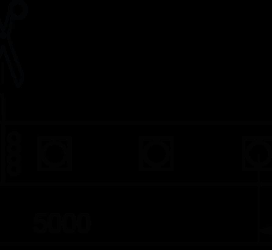 QX-Nature 5 mtr 24V-14,4W  RGB ledstrip 60 leds/p.mtr IP67