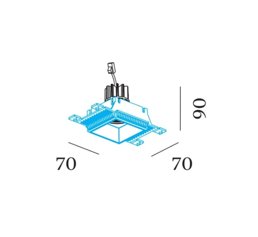 Strange 1.0 LED 7/10Watt trimless adjustable recessed