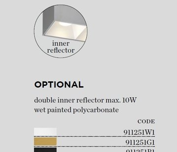 Wever-Ducre Inner Reflector for BOX 2.0 ceiling surface