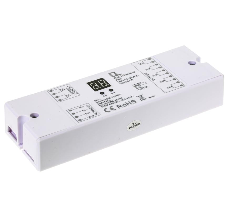 DALI controller 4-channel 12-36Vdc 8amp