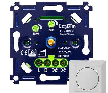 EcoDim EcoDim03 digitale Led dimmer 0-450Watt fase aan-/ afsnijding