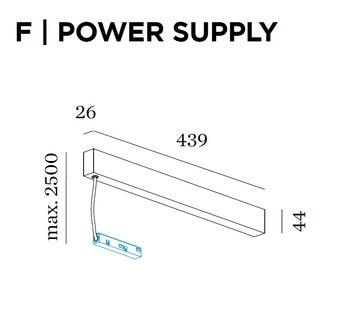 Wever-Ducre Strex Power Supply suspended (driver-box) 100-150Watt DALI