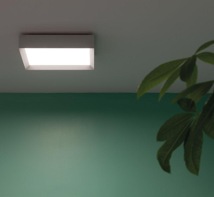 Flo Q300 wand-plafond opbouw 30Watt 300x300mm in 4 kleuren