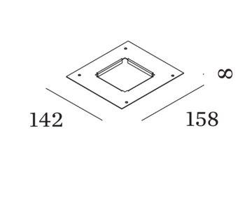 Wever-Ducre Plasterkit for Luna Square IP44 1.0