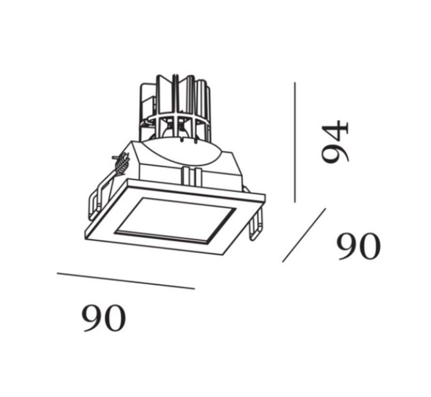 Luna Square IP44 1.0 PAR16 recessed spot IP44
