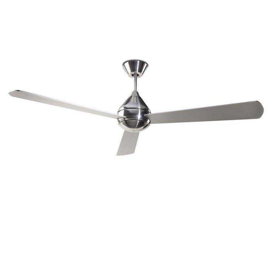 Tupai Ø1066mm plafond ventilator in satijn nikkel met afstandsbediening