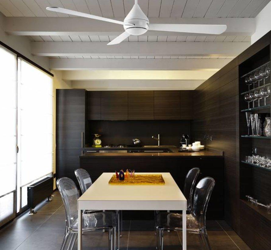 Tupai Ø1066mm plafond ventilator in glanzend wit met afstandsbediening