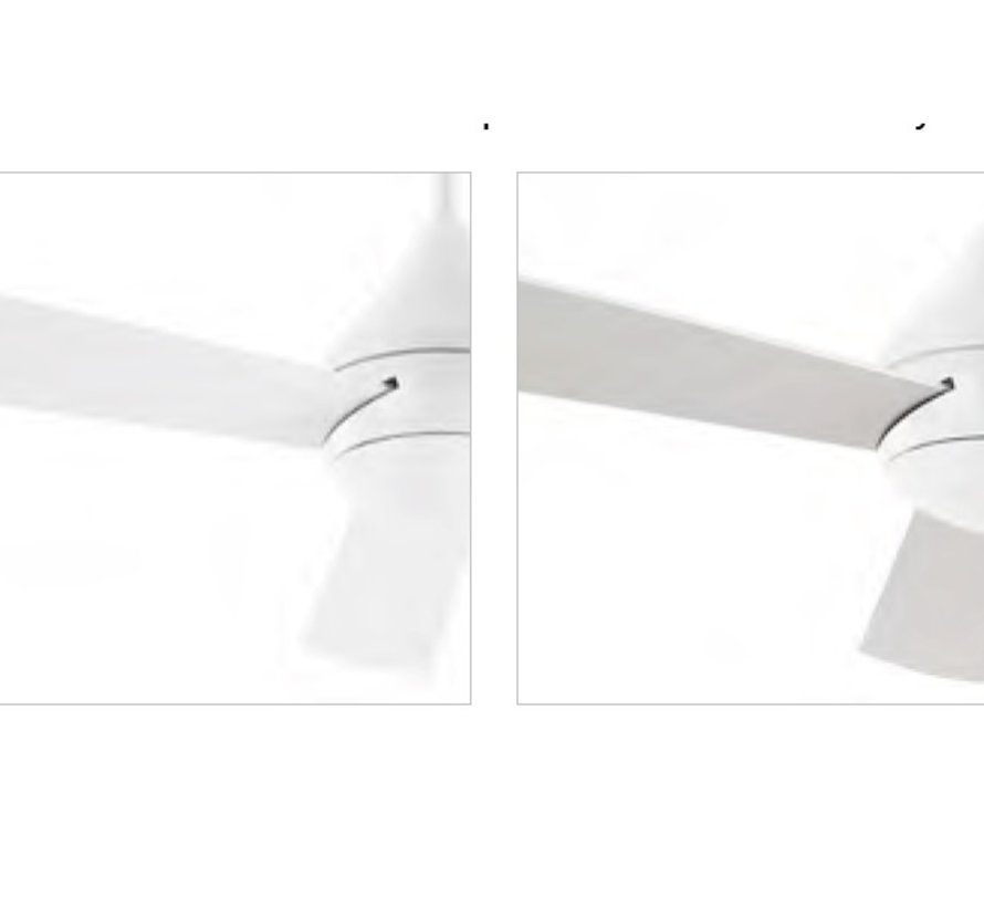 Tupai Ø1066mm fan in gloss white with remote controll