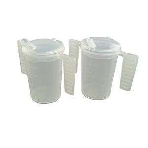 Able2 Drinkbeker met platte handgrepen en twee tuitdeksels