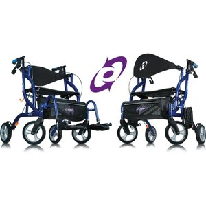 Able2 Airgo® Fusion™ inklapbare rollator & transportstoel in één