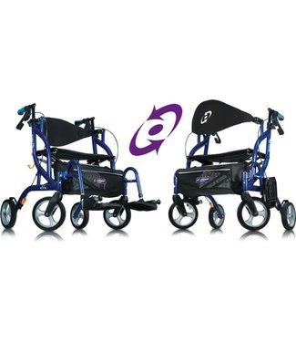 Able2 Airgo® Fusion™ inklapbare rollator & transportstoel in één