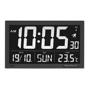 Able2 Radiografische klok met temperatuur XL
