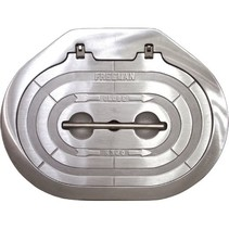Luik 2464-0003 24x24 Square Hatch, Hinged, Knife-edge Seal - Compl. Unit With Stl Ring