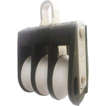 Standaard 3-schijfs Blok met Beugel 50/63mm