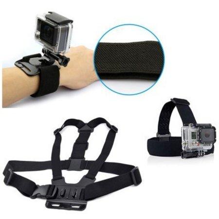 Accessoires Set Klein (3 stuks) voor actioncamera